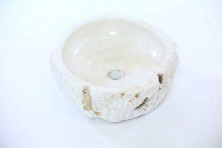 כיור אבן לבן