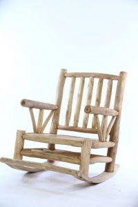 כסא נדנדה ענפי עץ טיק