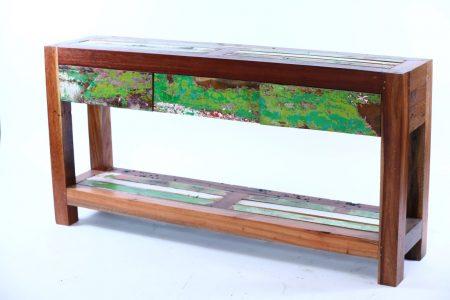 מזנון עץ טיק ממוחזר לייבור