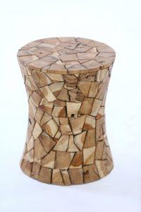 סטול עץ טיק משולשים 1