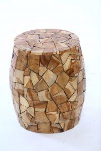 סטול עץ טיק משולשים