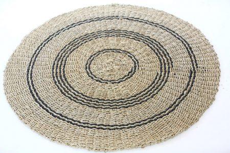 שטיח עשב ים טבעי פס שחור