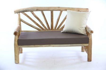 ספסל שמש זוגי ענפי עץ טיק
