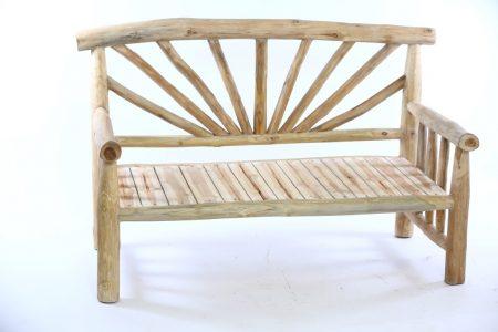 ספסל שמש ענפי עץ טיק 1